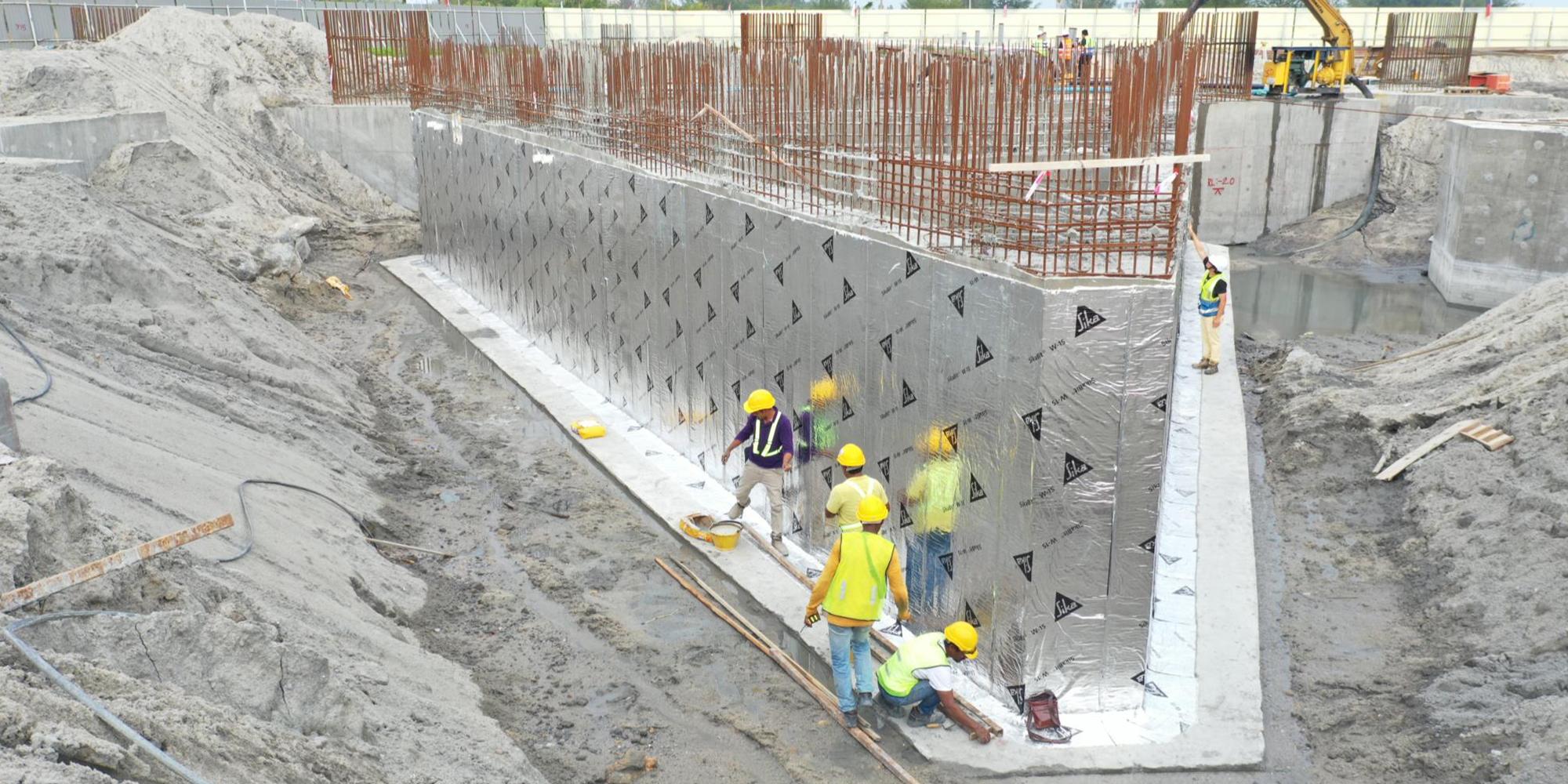 01-B 棟區域 電梯機坑墻面防水處