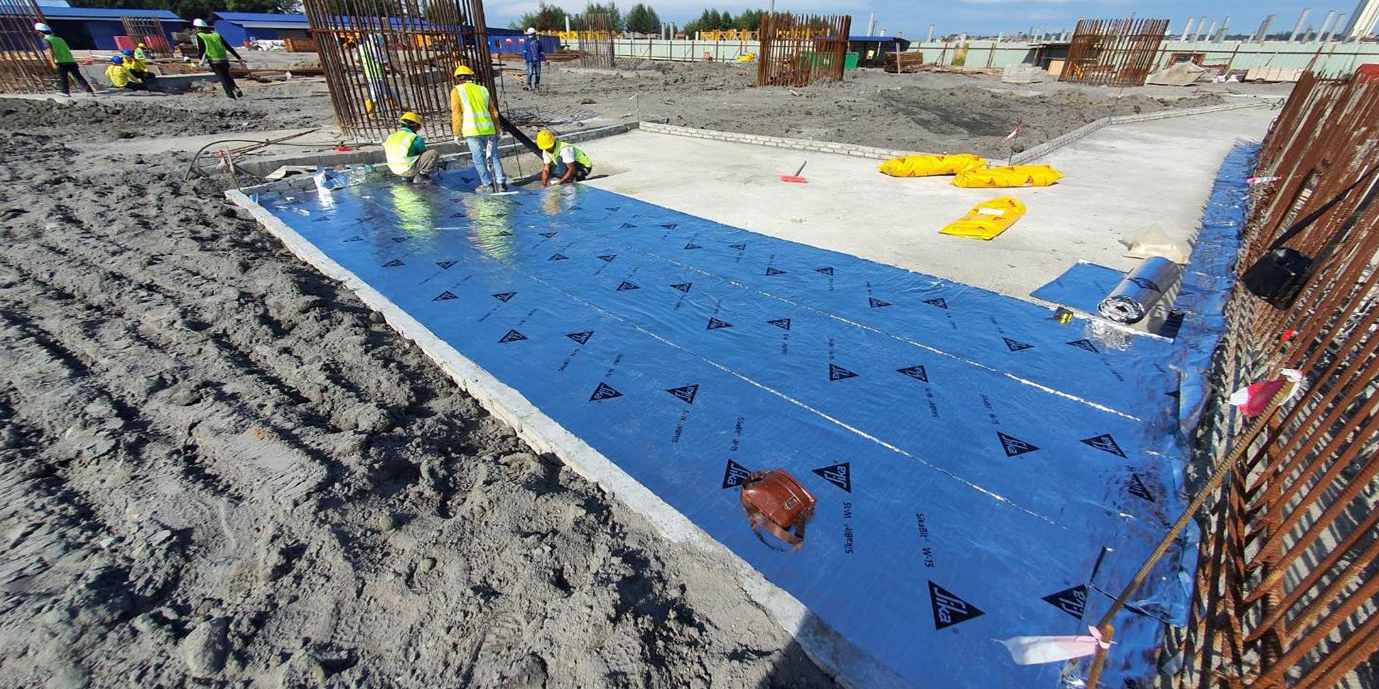 04-B 棟區 Zone1 鋪墊層防水膜施