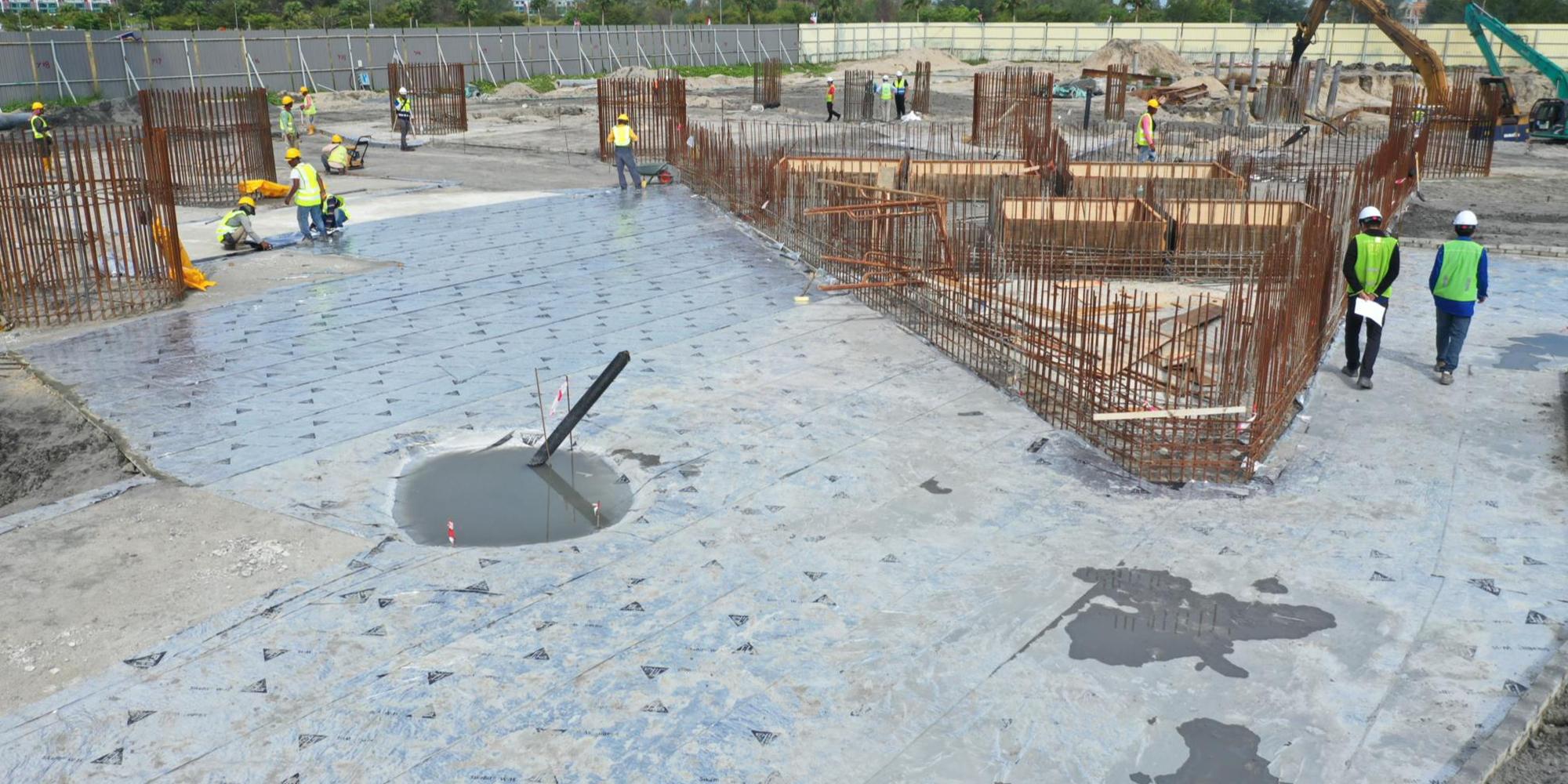 05-B 棟區 Zone2 鋪墊層防水膜施