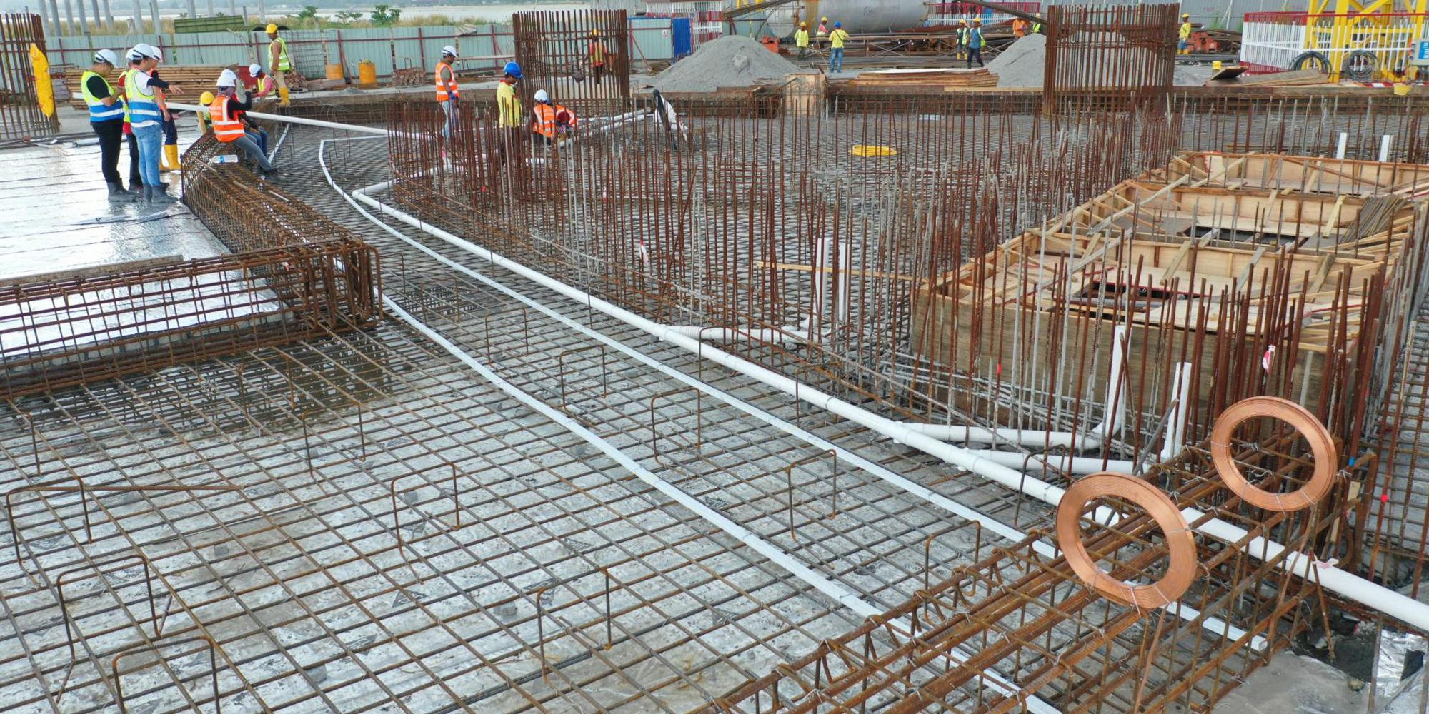 13-B 棟區域 電梯機坑雨水管及地線預埋
