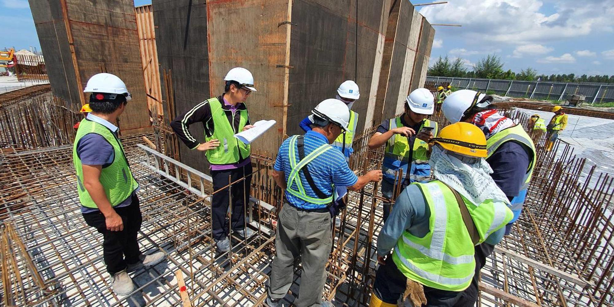 15-B 棟區域 電梯機坑墻 鋼筋綁紥檢查