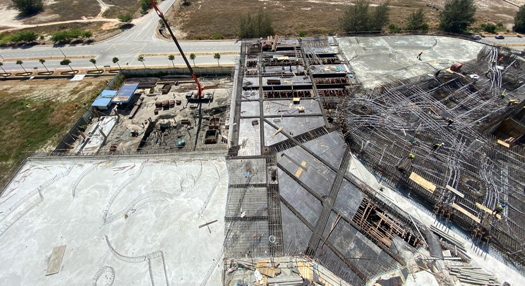 07-C 棟區域 (7F 樑版筋綁紥及版模鋪設)